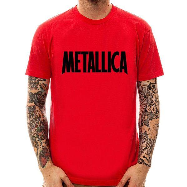 Metallica Logo#2短袖T恤-3色 金屬製品吉他團搖滾龐克美國進口ROCK METAL