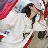 【免運快出】 卡通韓版學生原宿BF風簡約百搭連帽T恤女 奇思妙想屋