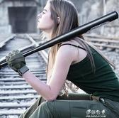加厚合金鋼黑棒球棍棒球桿鐵棍男車載伊莎公主