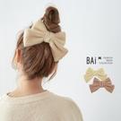 髮夾 超大蝶結混毛呢料彈簧夾髮飾-BAi...