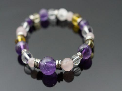 粉晶石&紫水晶&黃水晶&白水晶&爆白晶&防古銀配件,生肖龍的守護者。N99