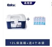 行動冰箱-Esky保溫箱12L保鮮箱戶外車載便攜冰箱釣魚外賣箱冰袋【快速出貨】