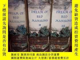 二手書博民逛書店A罕見DREAM OF RED MANSIONS - 3 Vol