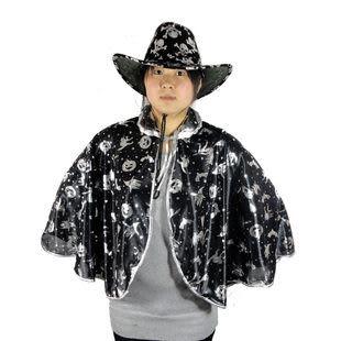 萬聖節服裝 南瓜短披風+2色鬼頭帽 255g