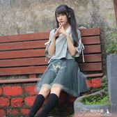 班服漢元素古風上衣新款短裙漢服套裝中國風古裝學生日常改良女裝 提拉米蘇