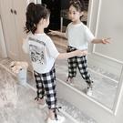 女童夏裝洋氣時髦套裝裙2019新款韓版中大童闊腿褲女孩短袖兩件套 嬌糖小屋