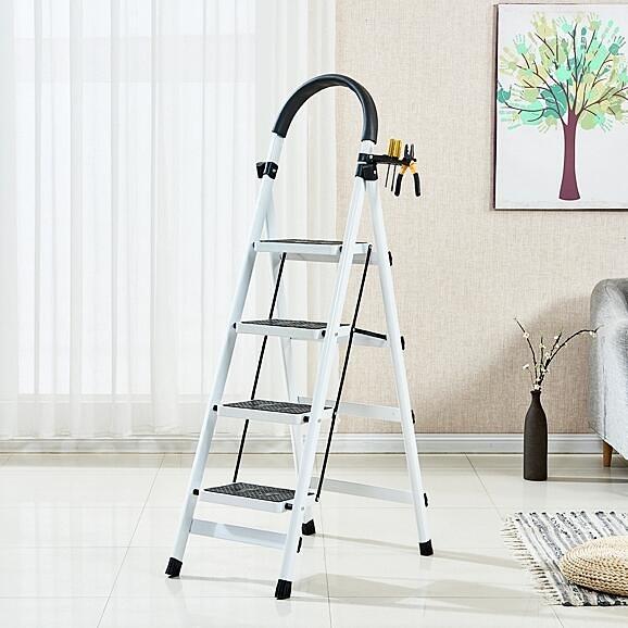 梯子 家用折疊梯子室內人字梯四步梯五步梯爬梯加厚多功能扶梯伸縮梯子TW【快速出貨八折鉅惠】