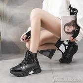 秋季新款女鞋英倫風漆皮厚底短靴鬆糕ins網紅馬丁靴潮凱斯盾數位3c