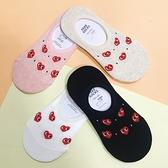 韓國襪子 愛心襪 川久愛心 矽膠防滑隱形襪 船型襪 短襪