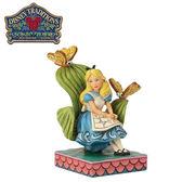 【正版授權】Enesco 愛麗絲 樹葉椅子 塑像 公仔 精品雕塑 愛麗絲夢遊仙境 迪士尼 Disney - 973366