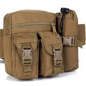 全館83折多功能水壺腰包 大容量男腰包戶外戰術腰包跑步包帆布旅行手機包