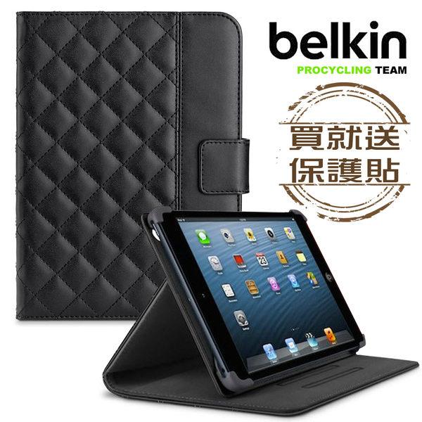Belkin iPad mini/mini2/mini3全包覆方格菱紋保護套(黑色)附保貼