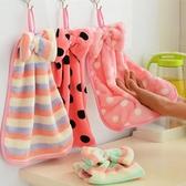 ✭慢思行✭【H03】韓國珊瑚絨蝴蝶結掛式擦手巾 擦手巾掛式 強水力超強不掉毛 廚房毛巾