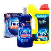 亮碟Finish 洗碗機軟化鹽1kg+洗滌粉劑1kg+光潔潤乾劑500ml