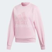 adidas 長袖上衣 ID Glory Crewneck Sweatshirt 大學T 粉 粉粉DER 女款 三條線 【PUMP306】 DX2494