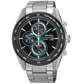 【時間光廊】SEIKO 精工錶 Criteria 黑綠 光動能 三眼錶 藍寶石水晶鏡面 全新原廠公司貨 SSC413P1