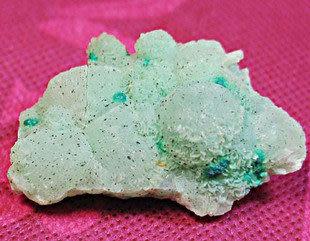 礦物晶體·礦石標本·葡萄石矽孔雀石