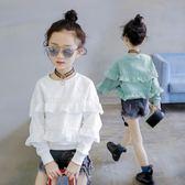 童裝女童大學T2018新款韓版秋裝兒童中大童洋氣長袖上衣春秋潮衣服