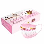 (台灣製雙鋼印)Line 櫻花 成人醫療 醫用口罩 (15入/盒) 獨立單片包裝 熊大 兔兔 莎莉~送口罩支架