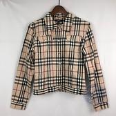 BRAND楓月 BURBERRY 巴寶莉 法蘭絨 緞面內裡 格紋造型襯衫 #XL 休閒時尚 大學風 服飾 穿搭