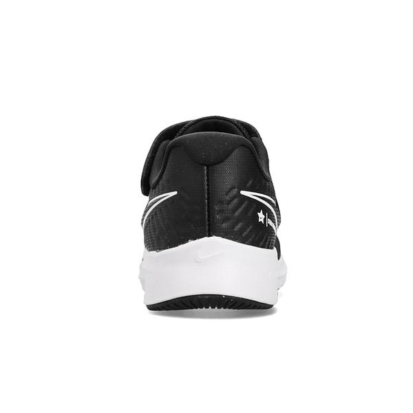 Nike Star Runner 2 (PSV) 中童 黑 輕量 魔鬼氈 透氣 慢跑鞋 AT1801-001