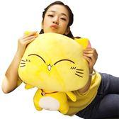 可愛貓咪公仔大臉貓毛絨玩具抱枕公仔布偶抱著睡覺娃娃少女生超萌【萬聖節鉅惠】