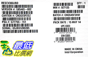 [106美國直購] Intel - Storage Controller (RESCV360JBD) Category: SCSI and RAID Controllers