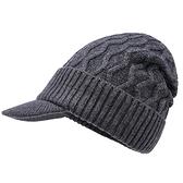 羊毛毛帽-純色條紋針織毛線男鴨舌帽4色73wj4【時尚巴黎】