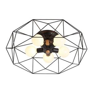 【Honey Comb】北歐星鑽造型半吸頂燈五燈(KC1769)