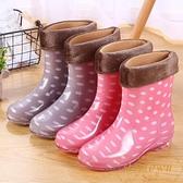 成人防水鞋防滑雨靴膠鞋套鞋時尚水靴【繁星小鎮】