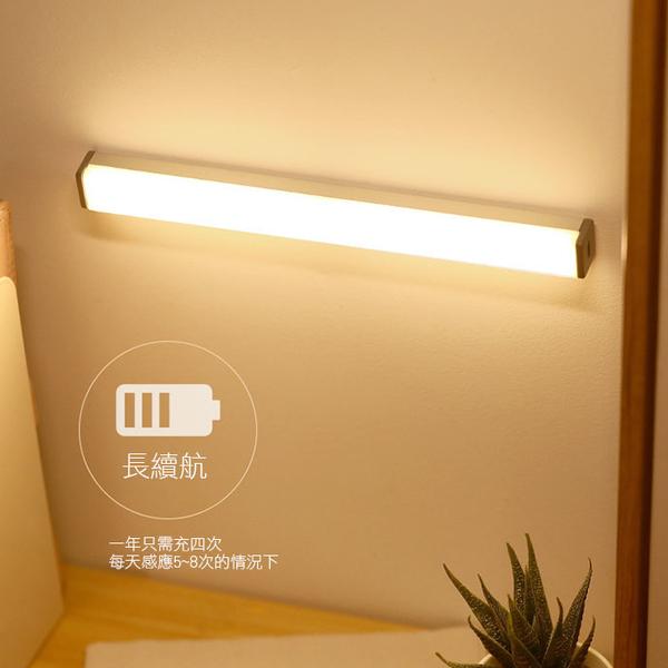 Qmishop 30CM 感應燈 照明燈 人體感應燈 磁吸式燈條 LED長條感應燈【J3064】