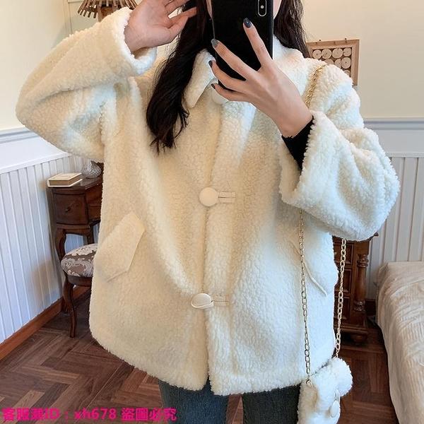 特惠外套 冬季小個子棉衣女仿羊羔毛棉服2021新款韓版寬松加絨加厚棉襖外套
