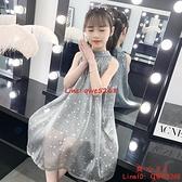 女童連身裙新款兒童裝中大童洋氣小女孩夏季網紅公主裙子【齊心88】