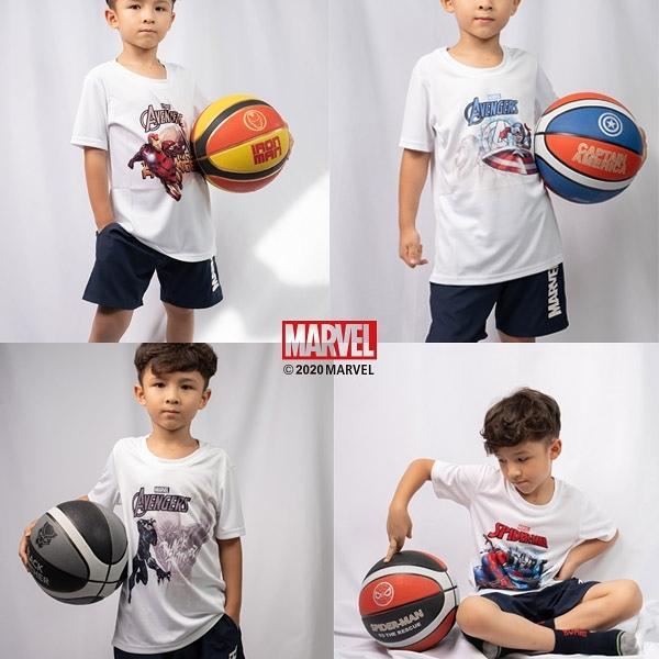 買衣服送球!MARVEL漫威童裝 全英雄卡通短袖上衣 休閒運動童裝