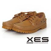 XES 男鞋 經典 時尚雷根帆船鞋 防滑舒適大底_優質棕