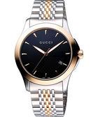GUCCI G-Timeless 古馳菱格紋時尚腕錶-半金 YA126410