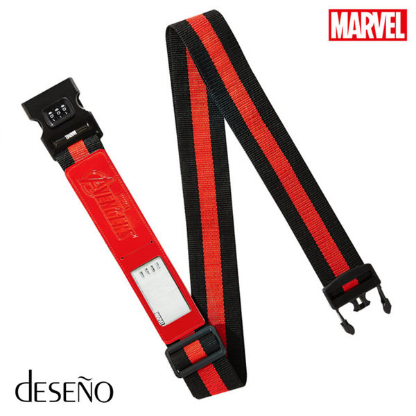 Deseno 行李束帶 經典造型復仇者聯盟束帶B1123-CR18M  紅色 MyBag得意時袋