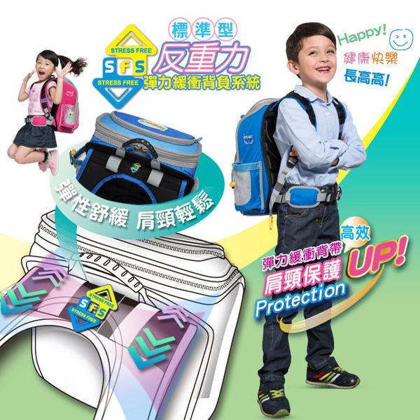 IMPACT怡寶 標準型舒適護脊書包-寶藍IM00137RB