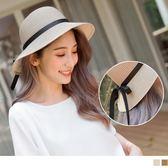 《ZB0556》甜美浪漫蝴蝶結綁帶設計草帽 OrangeBear