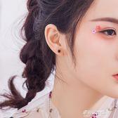 銀致S925銀耳釘女氣質韓國個性創意簡約方糖迷你學生清新百搭飾品多莉絲旗艦店
