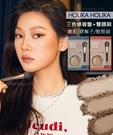 【2wenty6ix】韓國 HOLIKA HOLIKA 三色修容盤 +雙頭刷 (#01 / #02 )