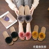 草編鞋 拖鞋女夏季可愛居家室內涼拖鞋防滑厚底棉布月子亞麻家用托鞋軟底 618大促銷