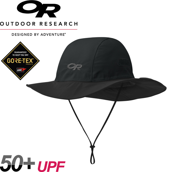 【Outdoor Research 美國 SEATTLE SOMBRERO 防水透氣大盤帽《黑》】243505/GORE-TEX/防水