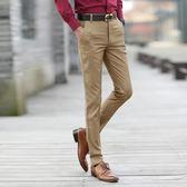 男裝秋季商務休閒長褲子韓版修身薄款灰色西裝褲正裝男士青年西褲 魔方數碼館