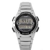 手錶 CASIO卡西歐黑銀個性潮流多功能電子腕錶 防水100米 有保固【NE1788】原廠公司貨