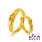 威世登 黃金戒指 對戒 鎖住愛情 愛情圈套黃金對戒系列 情人節 結婚金飾 GA00202B+GA00202G-ABEX