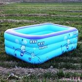 家庭嬰兒游泳池幼兒童洗澡充氣式寶寶小孩加厚保溫浴缸家用浴盆 DR22357【Rose中大尺碼】
