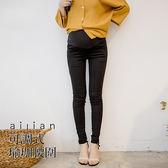 愛戀小媽咪 孕婦褲 簡約百搭素面彈力顯瘦窄管褲 可調式瑜珈腰圍 S-XL