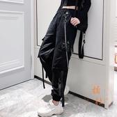 工裝褲女寬松bf大口袋顯瘦高腰褲子韓版百搭潮【橘社小鎮】