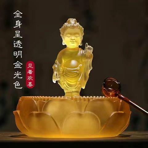 佛像太子佛浴佛盆組合琉璃裝飾家居擺件釋迦牟尼佛浴佛節用品蓮花